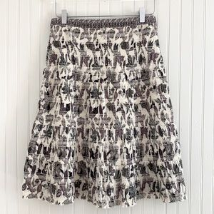 Tory Burch Ivory Wisteria Smocked Floral Skirt NWT